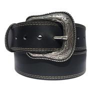 Cinturon Vaquero De Piel Negro Botas Rodeo Old Caborca