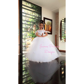 Vestido Primera Comunión 2 En 1 Exclusivo Juanas Princess
