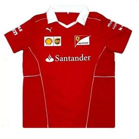 Camisa Polo Gola V Ferrari Santander F1 2018 Vettel