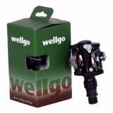 Pedal Wellgo Clip M919 Preto C/ Taquinho Sapatilha M505 M520