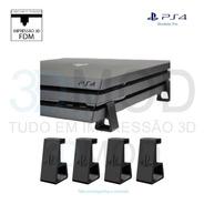Pezinho Ps4 Playstation Pro Horizontal Suporte De Mesa