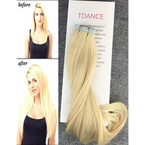 Tdance 18inch Tape In Hair Extensions Silky Straight Skin We
