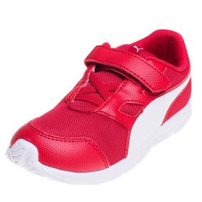 Zapatilla Puma Flexracer V Infantil Adp Rojo
