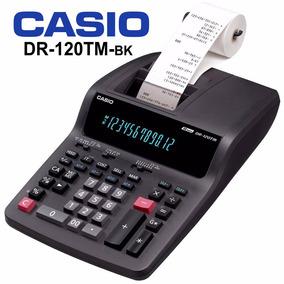 Calculadora De Mesa Casio Com Impressão Dr-120tm-bk