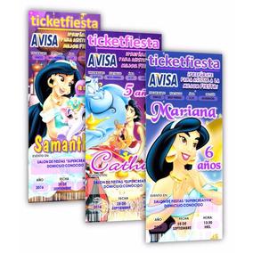Diseño De Invitaciones Imprimibles Princesa Jasmine
