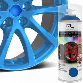 Spray Envelopamento Liquido 400ml Azul Fluorescente Au428