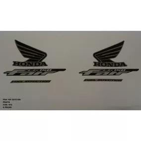 Faixa Adesivo Completo Honda Cg Fan 150 Esi 10 Preta