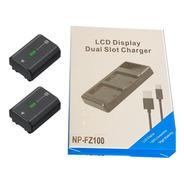 Carregador Duplo Com Display Usb P/ Bateria Fz100 C/ Recibo