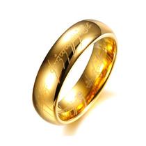 Anel Aliança Amor Élfico Senhor Dos Anéis Em Tungstênio 6mm