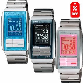 Reloj Dama Casio La201 Extensible Metal- Cronómetro- Cfmx -
