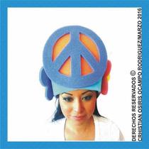 Sombreros Espuma Peace & Love Boda Fiesta Xv Lentes Peluca