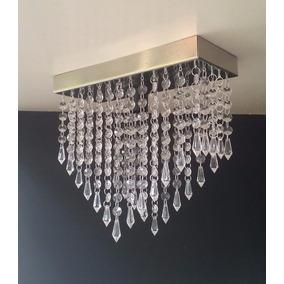 Lustre Pendente Cristal Acrilico 30x12 - Sala De Jantar