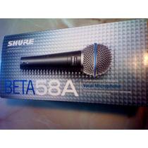 Micrófono Shure Beta 58a - 100% Original Nuevo