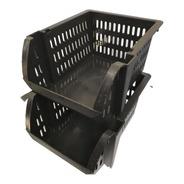 30 Caixas Bin Organizadora Plástica Empilhavel Plástico Cest