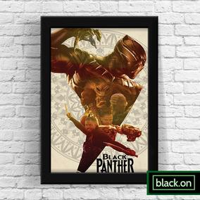 Poster Moldura Quadro Marvel Pantera Negra Filme 30x20cm #8