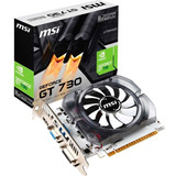 Placa De Video Msi Geforce Gt 730 2gb Ddr3 Hdmi