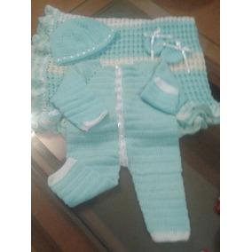 Mameluco + Cobijas Tejidas A Crochet Para Bebe