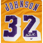 Jersey Autografiado Magic Johnson Los Angeles Lakers Nba