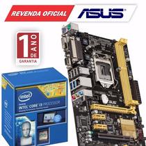 Kit Asus H81m-c/br + Processador Intel Core I3 4170 3.7ghz