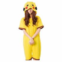 Kigurumi Pikachu Pokemon Pijama Enterito De Verano Kawaii