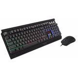 Kit Teclado Y Mouse Eagle Warrior Fenix Multicolor Gaming