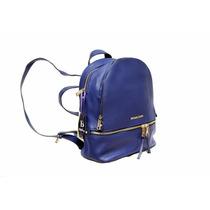 Morral Maleta Mk Color Azul Para Damas