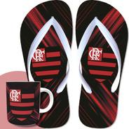 Presente Dia Pais Flamengo Chinelo E Caneca Super Barato Rj