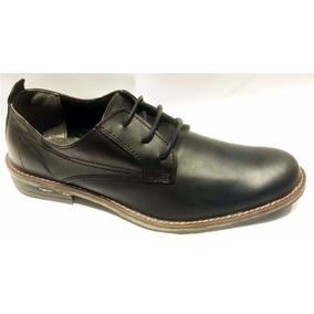 Zapato Urbano Davor Cuero Acordonado Negro Hombre -santino-