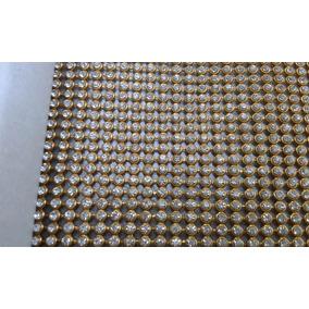 Manta De Strass Cristal Silicone 10cmx45cm - Frete Gratis
