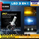 Led X3 Chip Philips H4 H7 H11