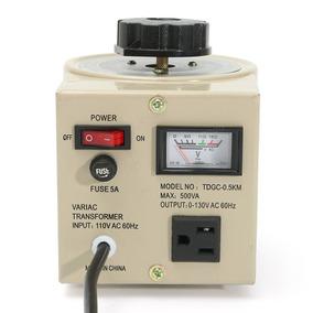 Transformador Regulador Tensión 0.5kva 500va 0-130v Ac
