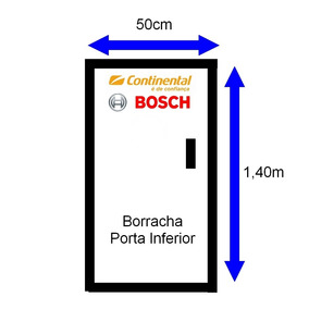 Borracha Da Porta Geladeira Continental Bosch 290l 1,40x50,0