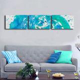 Quadro 30x150cm Decorativo Água Mar Gravura Estilo Aquarela