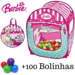 Barraca Barbie Toca Casinha Infantil + 100 Bolinhas