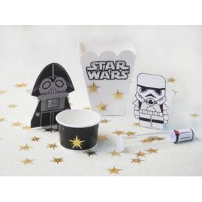 Star Wars Fiesta Dulcero Infantil Sables Servilletero Cajas