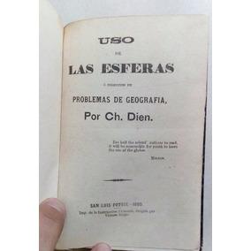 Antiguo Libro De Geografía Y Astronomía Potosino Año 1880
