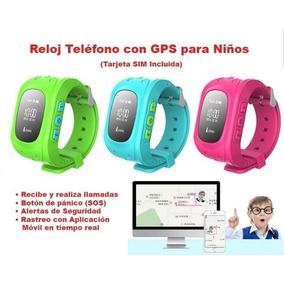 Reloj Gps Para Niños Smart Watch Con Chip Y $100.00 De Saldo