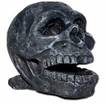 Enfeites Para Aquario Cranio Caveira Resina - Promoção