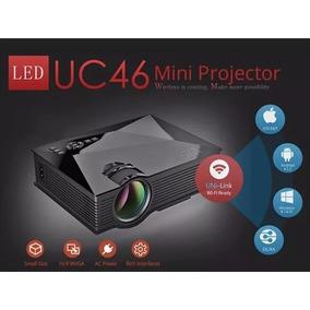 Mini Projetor Led Profissional Wifi Miracast Uc46