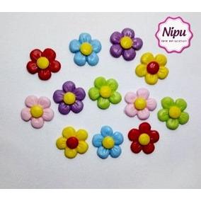 Frete 12,00 100 Flores Biscuit Qq Cor 2,5cm Flor Jardim