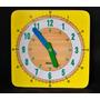 Reloj De Madera Para Aprender La Hora, Didáctico, Educativo