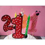 Velitas Con Numero Para Tortas De Cumpleaños En Masa Fexible