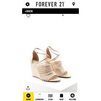 Forever 21 Strappy Wedges Nude Plataformas Suela Corrida 24