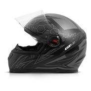 Capacete Fechado Moto Gt2 Preto Fosco