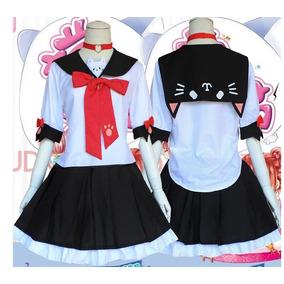 Cosplay Colegial Seifuku Gato Neko Japão Escola Uniforme M. R  170 f46671afeb01