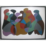 Painel Abstrato - Acrílica Sobre Chapa De Eucatex, Acid
