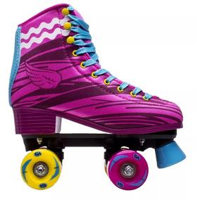 Patins Rosa C/4 Rodas Roller Skate Nº35 Hondar