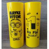 Kit 100 Copos Personalizados Long Drink 350ml - Frete Gratis