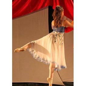 Figurino Ballet Clara Quebra Nozes Vestido Fantasia Branco