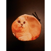 Monederos Con Cara De Gatos Perros Animales Cartera Bolsa